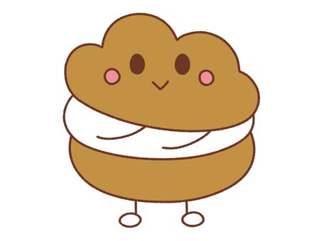 Cream puff character
