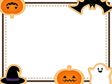 Halloween cookie frame _ white