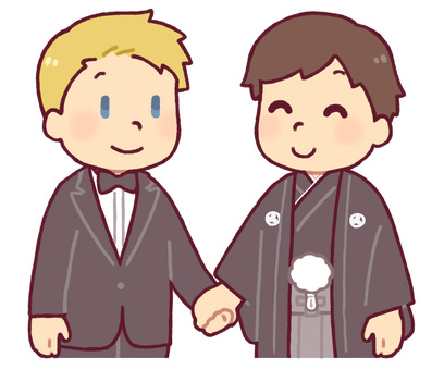 International same-sex marriage (male)