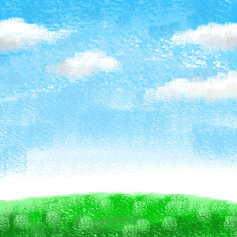 Crayon touch's blue sky