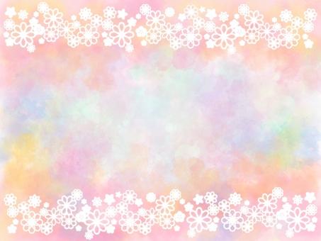 Flower frame background_white 1