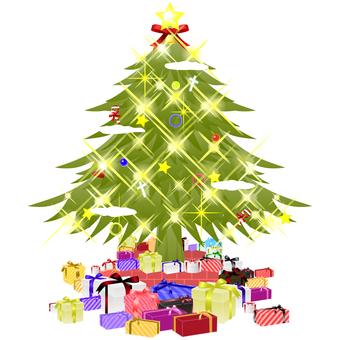 반짝 반짝 크리스마스 트리 및 선물