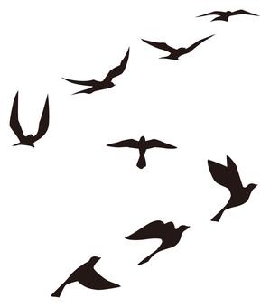 Flying bird set