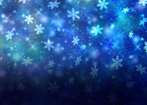 Snowflakes gradient winter wallpaper blue glitter