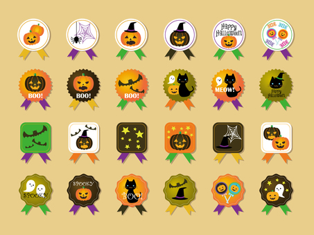 Halloween badge style icon