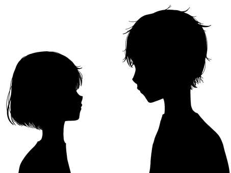 Male and female silhouette