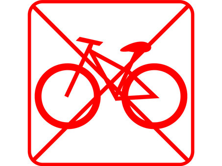 Design Bicycle Prohibition Red