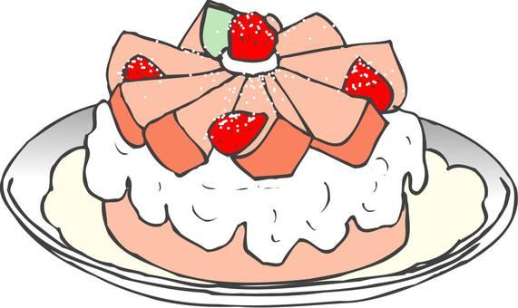 딸기 스폰지 케이크