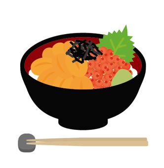 Bowl picklet on rice