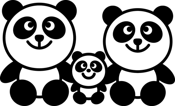 Nakayoshi parent and child Panda _ 01