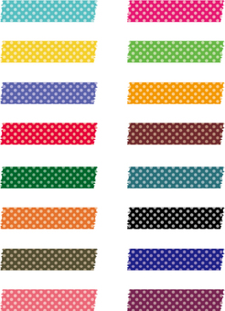 Dot spot masking tape set