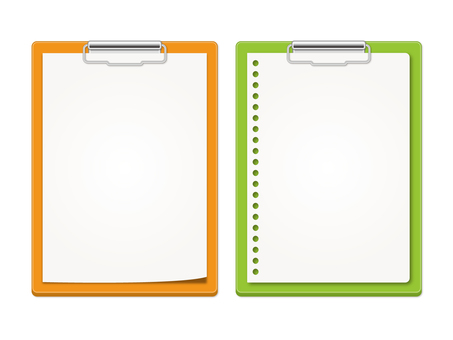 Orange and yellow green binder