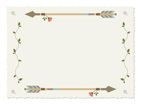 Cute arrow decorative frame