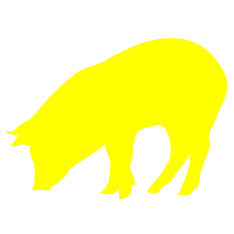 Pig silhouette (Yellow)