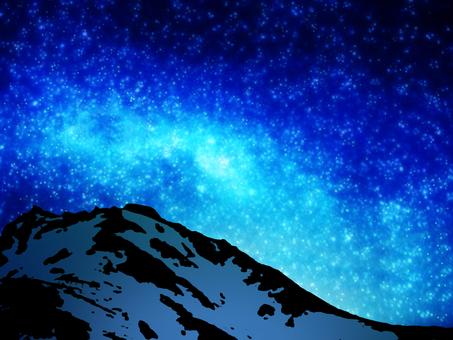 Starry sky and Tateyama