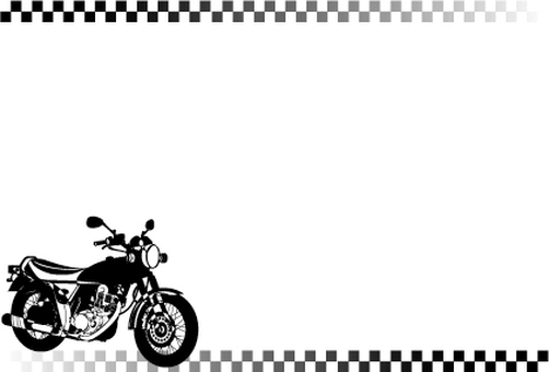 Bike's silhouette card