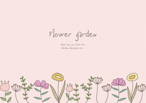손으로 그린 꽃밭의 배경