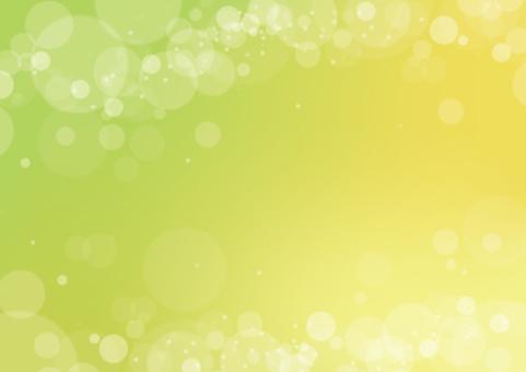 Glitter background / fresh green / message card