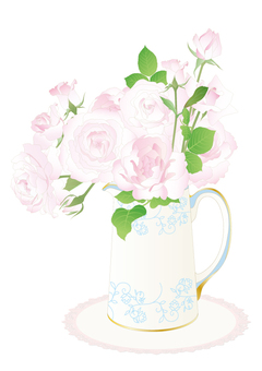 Pitcher _ Roses bouquet
