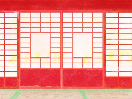 Red Shoji room