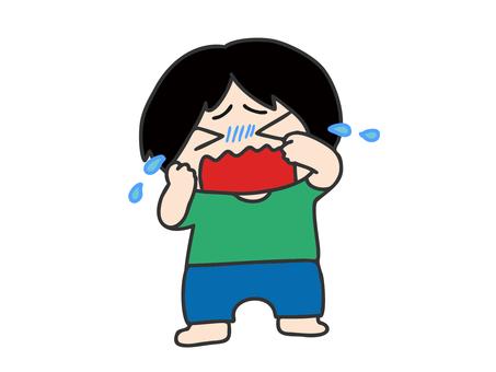 男の子 泣いている