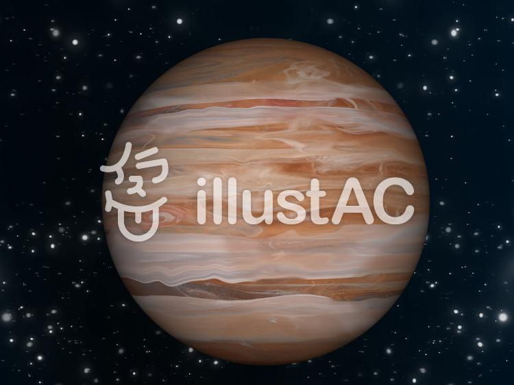 宇宙壁紙 惑星 木星①イラスト , No 817377/無料イラストなら