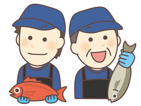 Fish shop / fresh fish corner staff 04