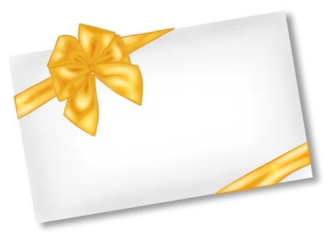 Celebration envelope · Gold ribbon · Clear main line
