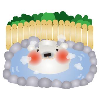 White spring hot spring