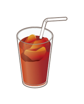 Ice tea with straw