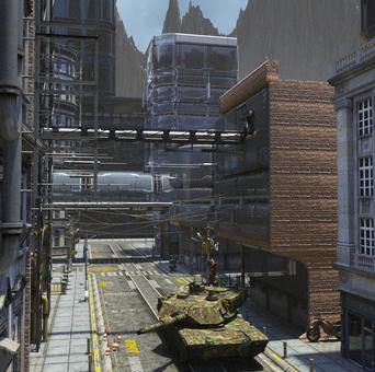 Scenery of planet city (Haze)