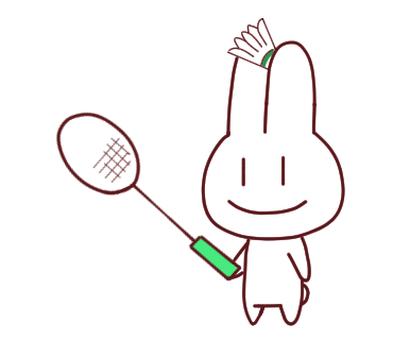Badminton Rabbit Right