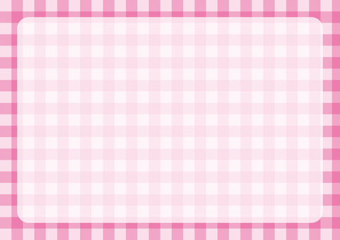 Gingham check frame pink