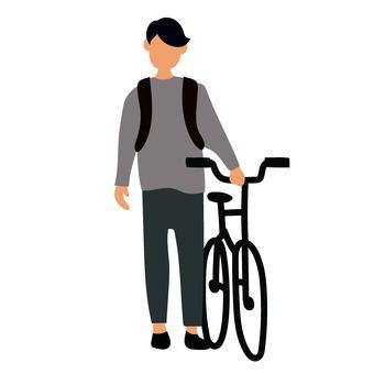 自行車和男子
