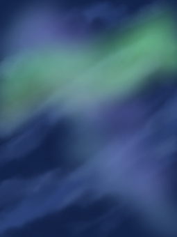 Aurora shining in the sky