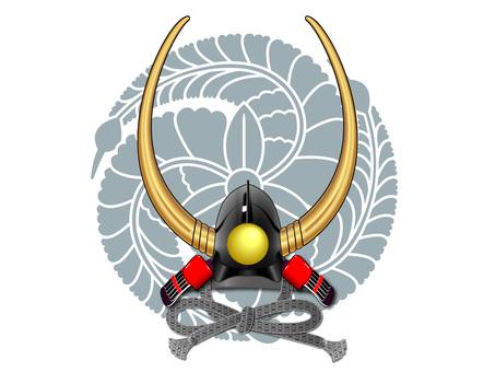 Helmet (Nagamasa Kuroda) - Enter crest