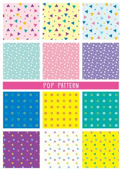 Geometric pattern pop fancy pattern set