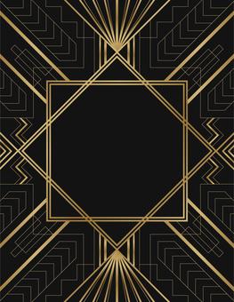 Art Deco Card (Black & Gold)
