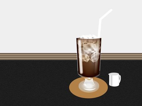 Ice coffee black