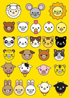 간단 동물 얼굴