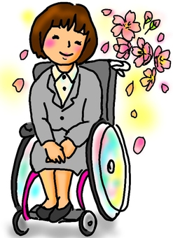 Wheelchair newcomer woman color short
