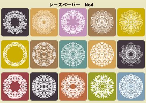 Lace paper No, 4 color