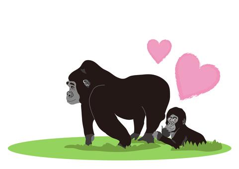 gorilla_ gorilla's mother and child 4