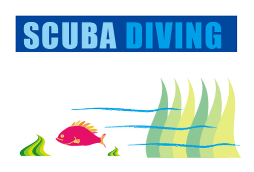 Scuba diving welcome card