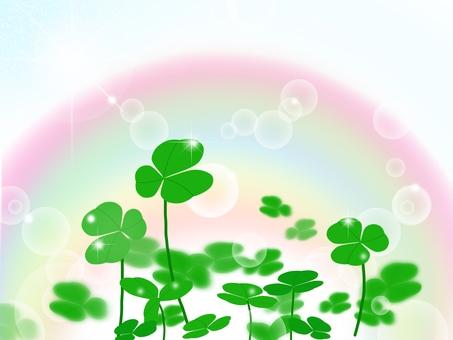 Clover in the rainbow