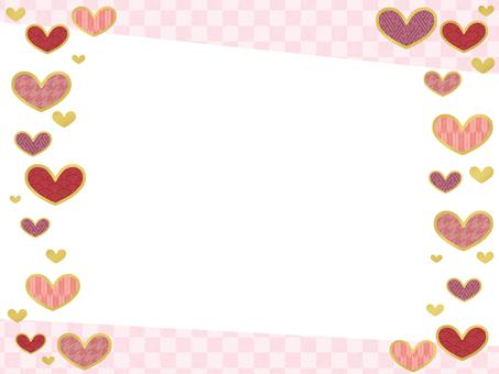 Japanese style frame Heart