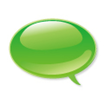 Icon speech _ green