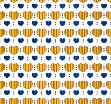 Nordic style pattern heart 01 / yellow