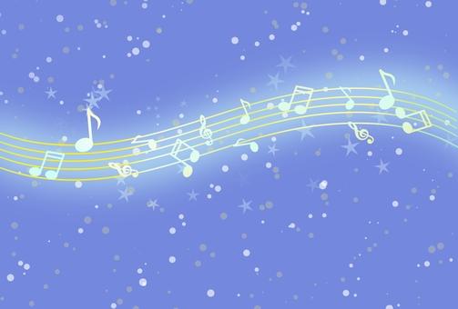 Night sky and music ②