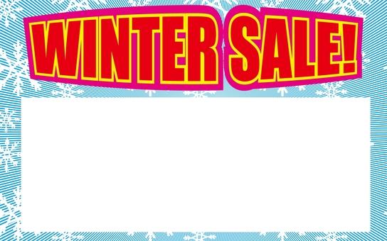價格標籤冬季銷售
